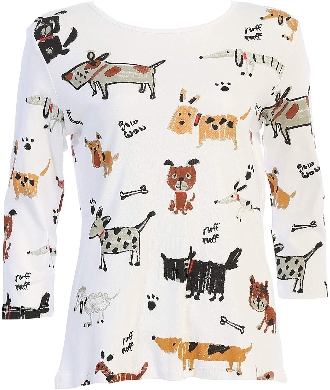 Jess & Jane Women's Critters Cotton Tee Shirt Top