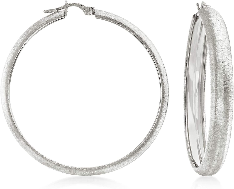 Ross-Simons Italian Sterling Silver Textured Hoop Earrings