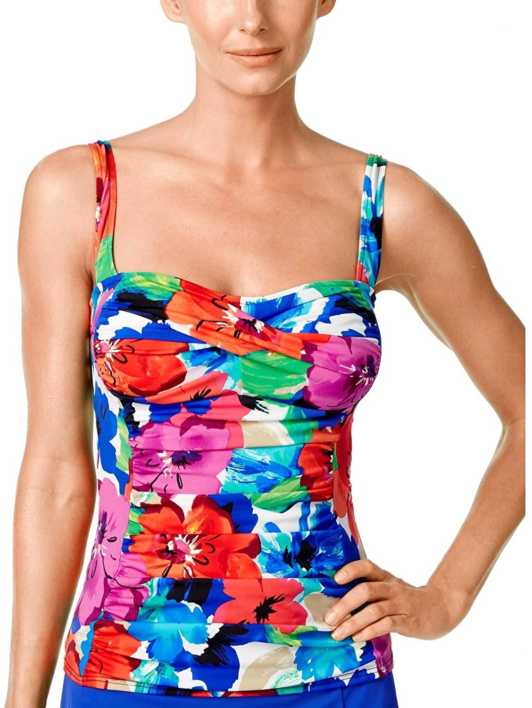 Swim Solutions Glam Floral Tankini Size 14