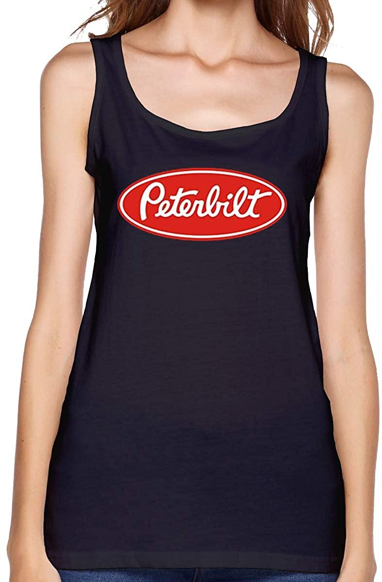 Women's Sleeveless Vest Short Sleeve T-Shirt Peterbilt Elegant and Simple Design Black