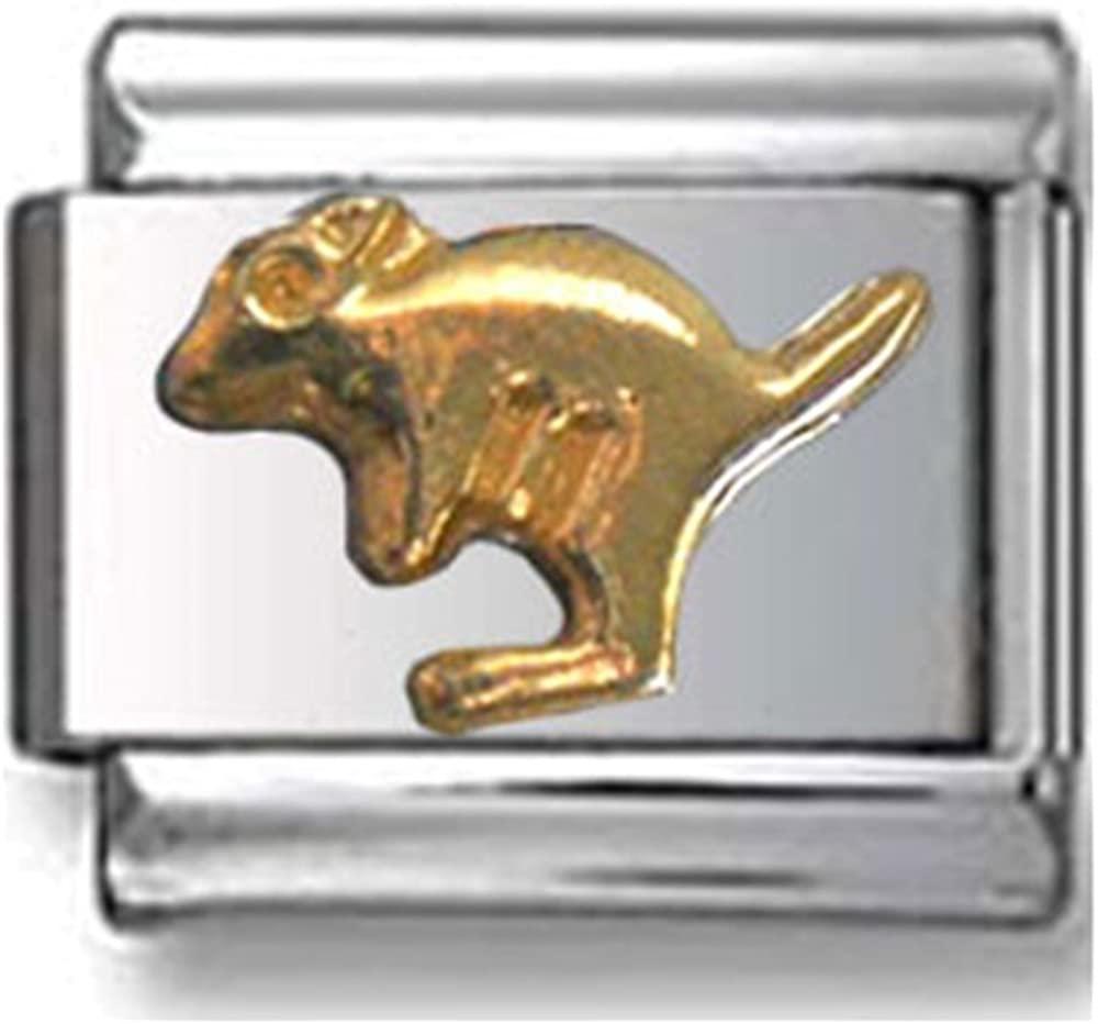 Gold Kangaroo Italian Charm
