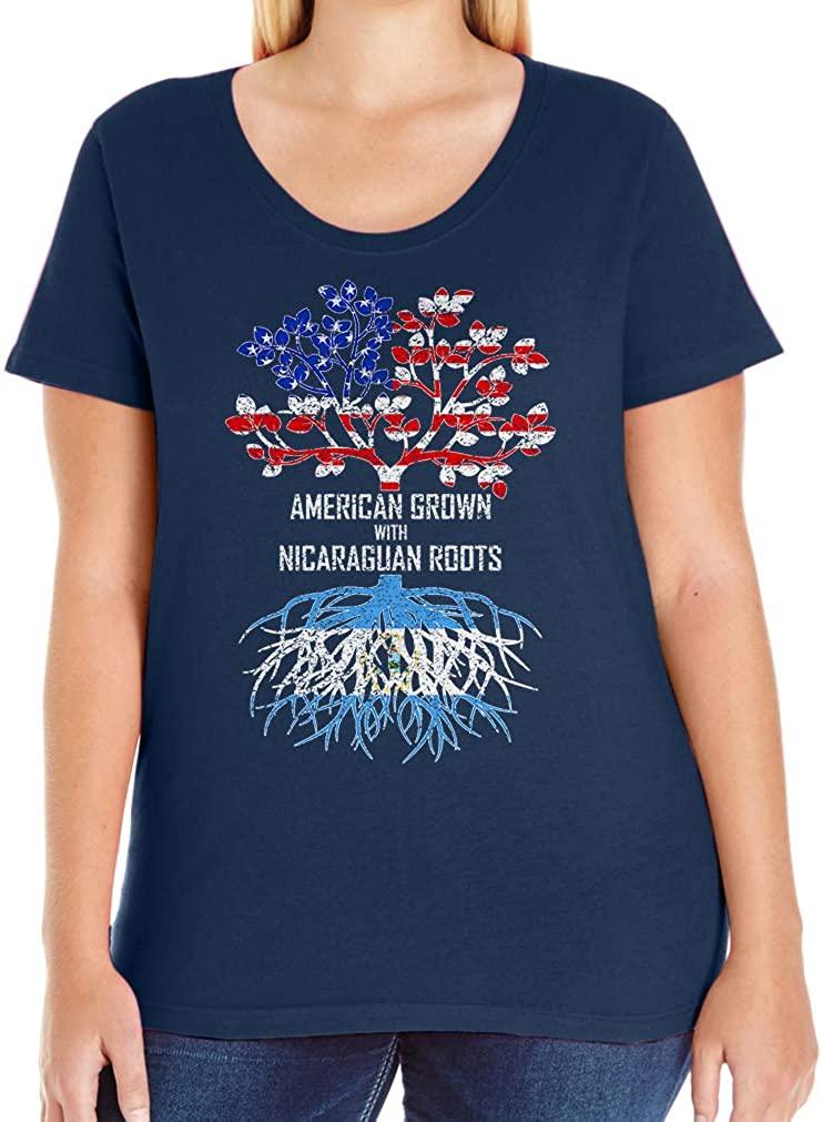 Tenacitee Women's American Grown with Nicaraguan Roots T-Shirt