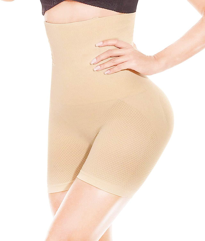 Yuyoung Womens Waist Trainer Shapewear Tummy Control Body Shaper Shorts Hi-Waist Butt Lifter Thigh Slimmer