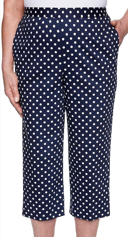 Alfred Dunner Women's Plus Size Dot Capri