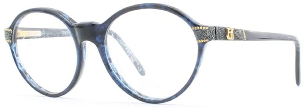 Emmanuelle Khanh 1583 768 Blue Authentic Women Vintage Eyeglasses Frame