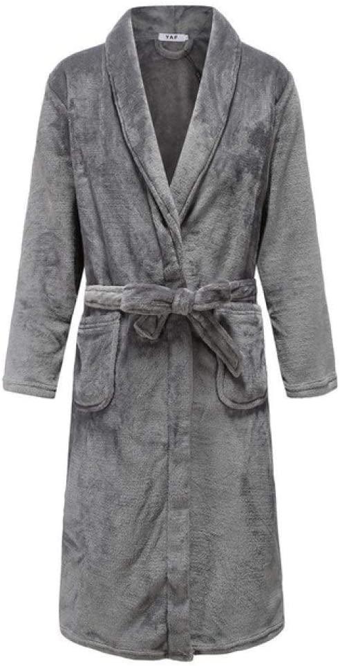 llwannr Robe Nightgown Sleep,Intimate Soft Winter Women Kimono Robe Gown Keep Warm Flannel Sleepwear Homewear Casual Full Knee-Length Bath Gown Plus Size,Women4,3XL