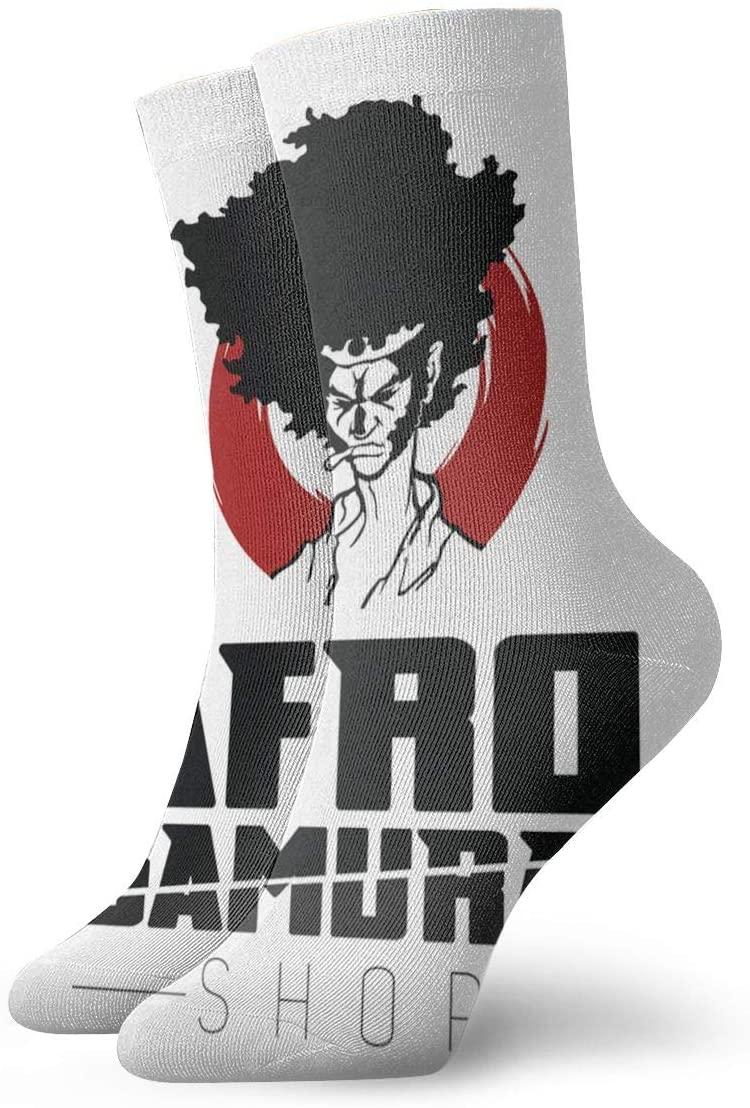 Qq21-achieve-store Afro Samurai Casual Socks, Cute Funny Pattern Socks