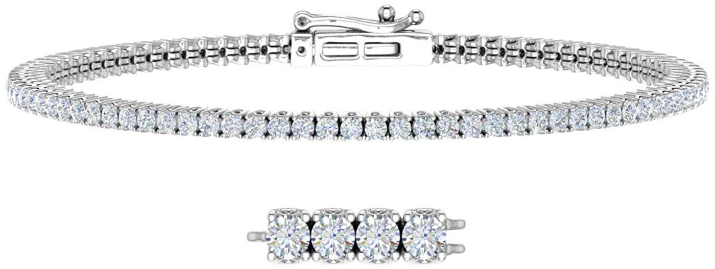2 1/4 Carat Diamond Tennis Bracelet in 14K Gold (7.5 Inch)