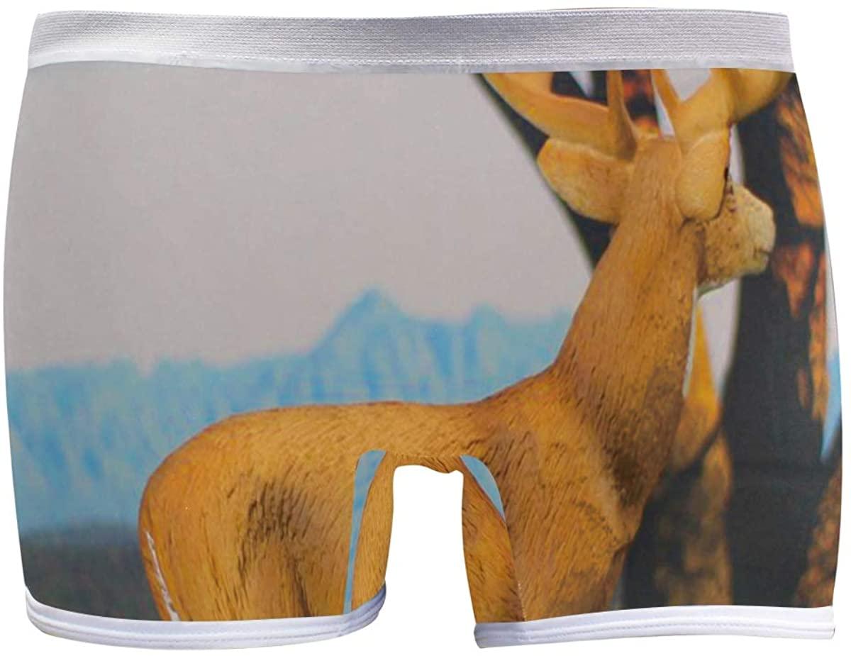 XUWU Women's Boyshort Panties Whitetail Deer Soft Underwear Boxer Briefs
