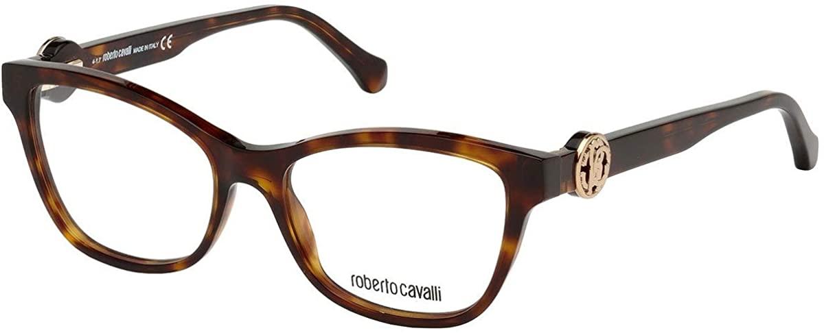 Roberto Cavalli Eyeglasses RC5048 052 Havana/Clear Demo Lens 52X16X140