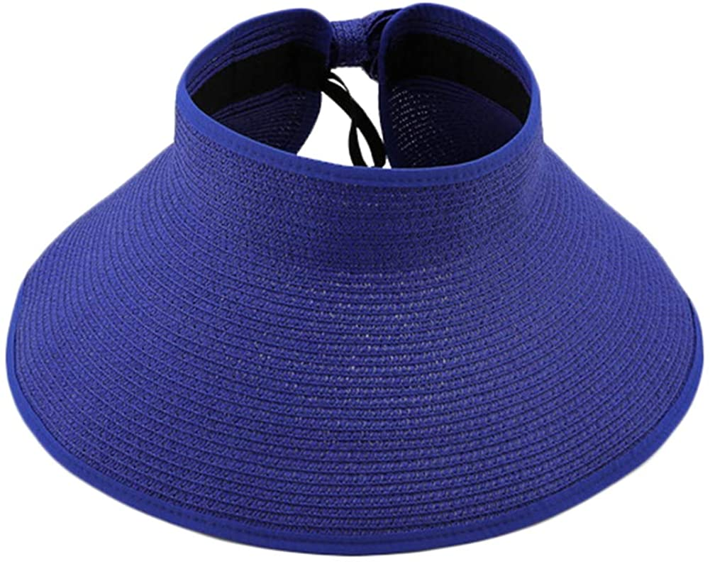 Epsion Big Bowknot Straw Hat Floppy Foldable Roll up Beach Cap Sun Hat UPF 50+