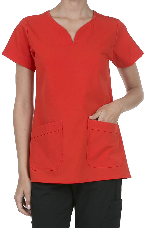 8045 Women's Uniform Scrubs Medical 2 Pocket Scrub Top RED XXS