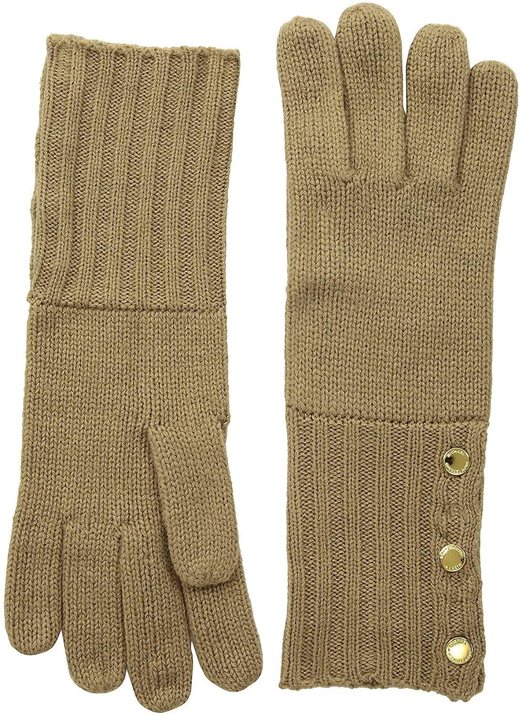 MICHAEL Michael Kors Women`s Ribbed Cuff Knit Gloves
