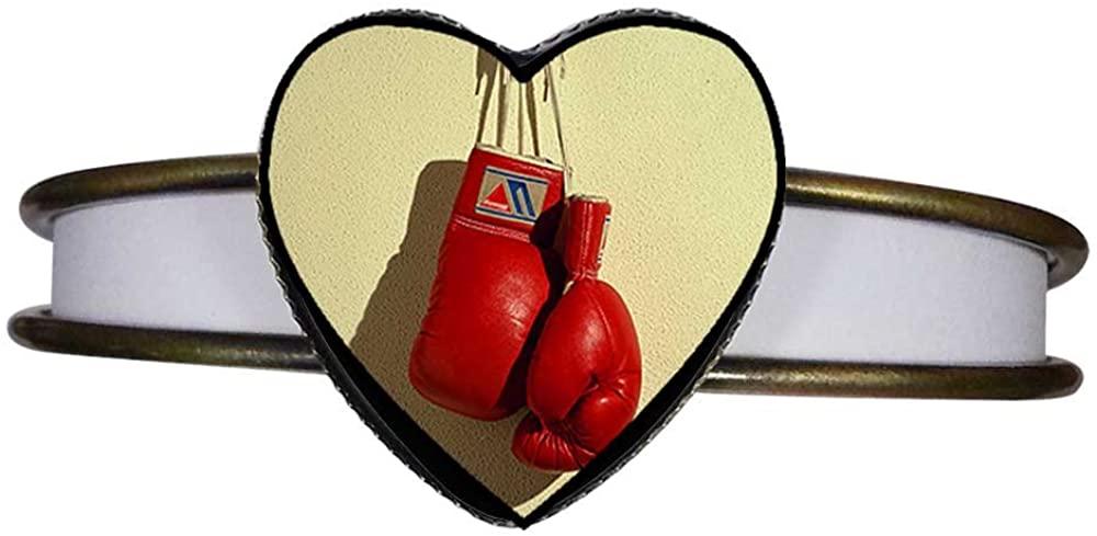 GiftJewelryShop Bronze Retro Style Olympics Boxing Gloves Hanging Heart Cuff Bangle Bracelet