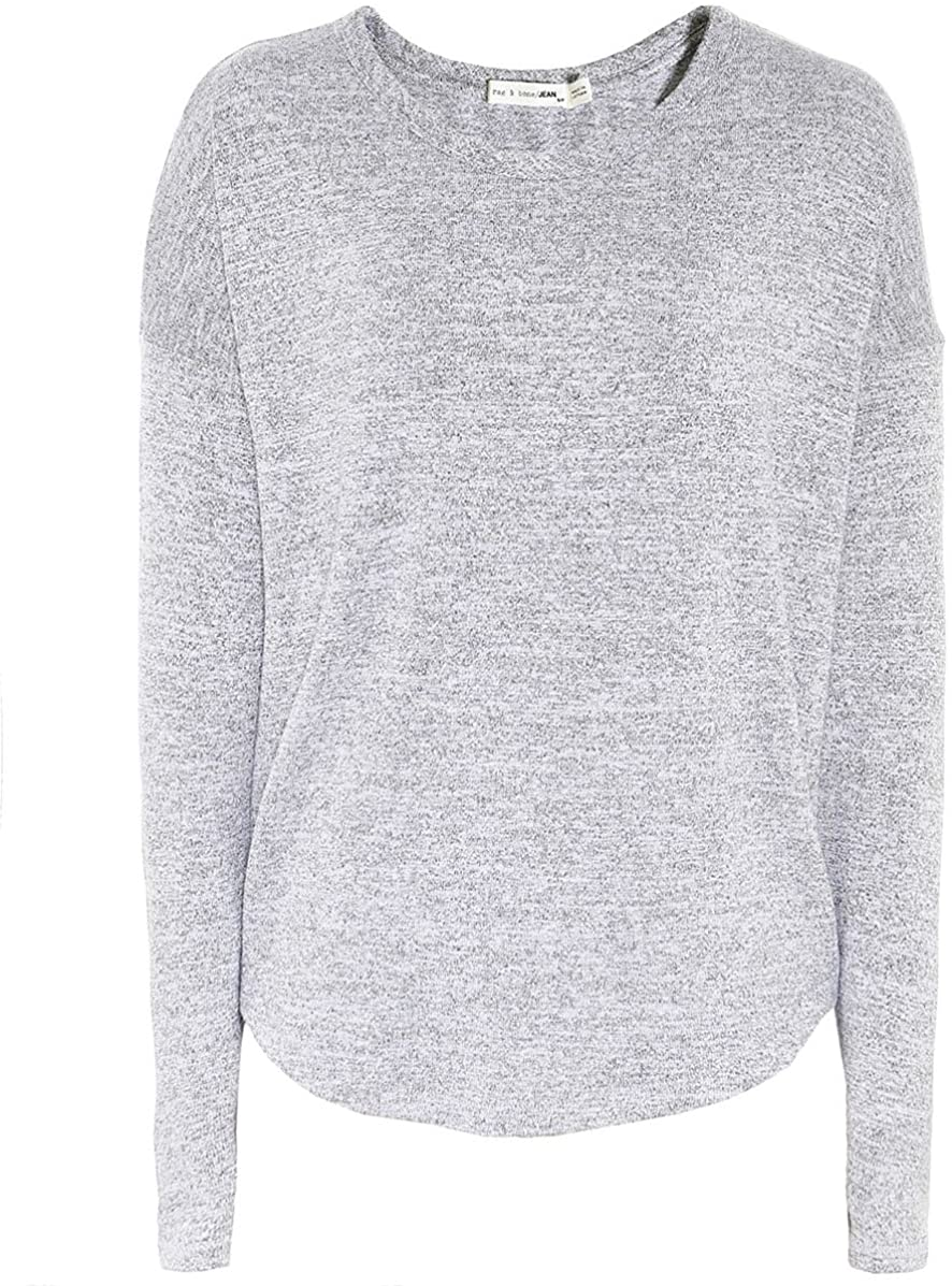 Rag and Bone Women's Long Sleeve Hudson Top Gray