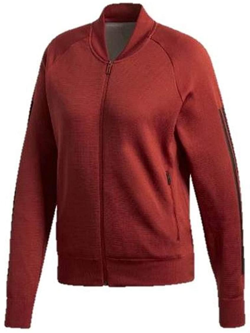 adidas Women's CZ2942 ID Knit Jacket, Noble Maroon, L