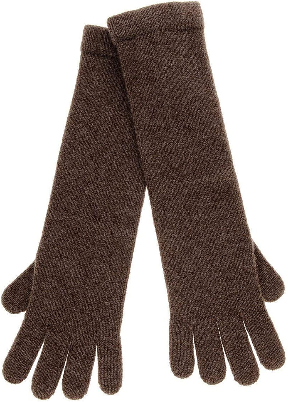 INVERNI CHALET Marrone Cashmere Wool Women Gloves