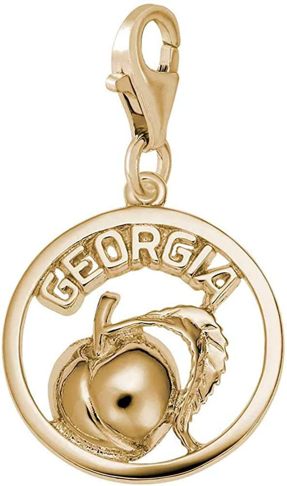 Rembrandt Charms Georgia Charm with Lobster Clasp, 10K Yellow Gold