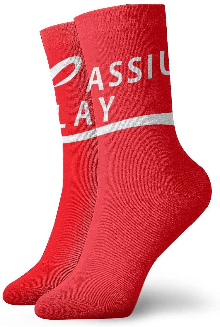 Qq21-achieve-store Ali Cassius Clay Casual Socks, Cute Funny Pattern Socks