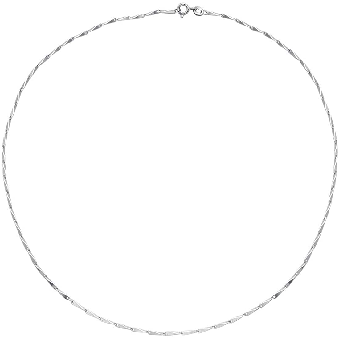 SA SILVERAGE Jewelry 925 Sterling Silver Box Chain Necklace Accessory Chain Matching Necklace, 16