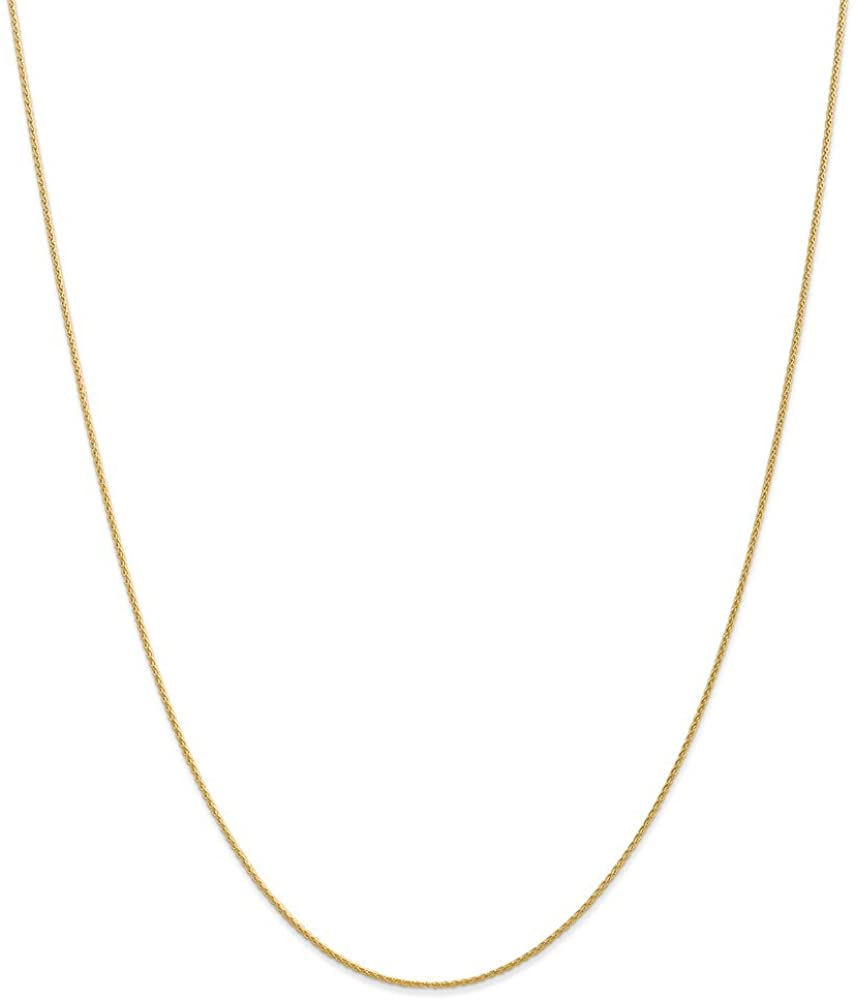 14k Yellow Gold 1mm Parisian Link Wheat Chain Necklace 14 Inch Pendant Charm Spiga Fine Jewelry For Women Gifts For Her
