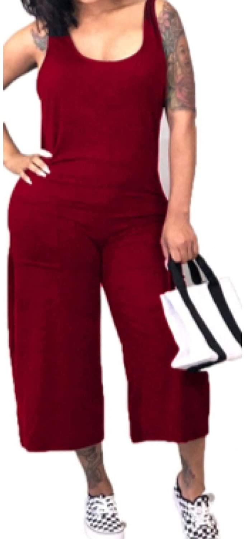 BOSOS Women's Burgundy Jumpsuit Pockets