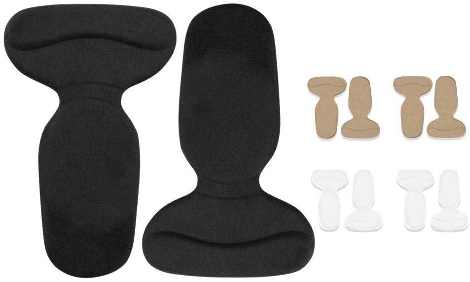 Heel Shoe Grips, Heel Cushion Inserts, Heel Liners for Women - Non Slip Gel and Velvet Heel Pads, Relieve Foot Pain, Blister Prevention and Protector(5Pairs)