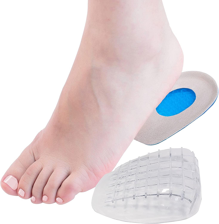 DR JK Heel Cups and Grips Kit, Heel Pads for Women and Men, Heel Inserts, Plantar Fasciitis Inserts, Heel Spur, Foot Pads, Heel Support, Heel Care for Foot Pain Relief