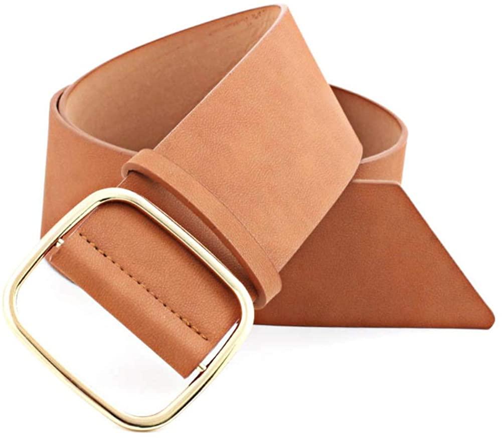Anpay Women Thin Skinny Wide Belt PU Leather Slim Ladies Adjustable Waist Belt