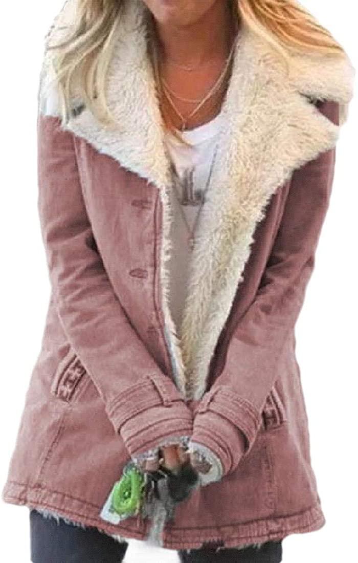 Smeiling Womens Winter Puffer Coat Fleece Lined Winter Fall Padded Coat