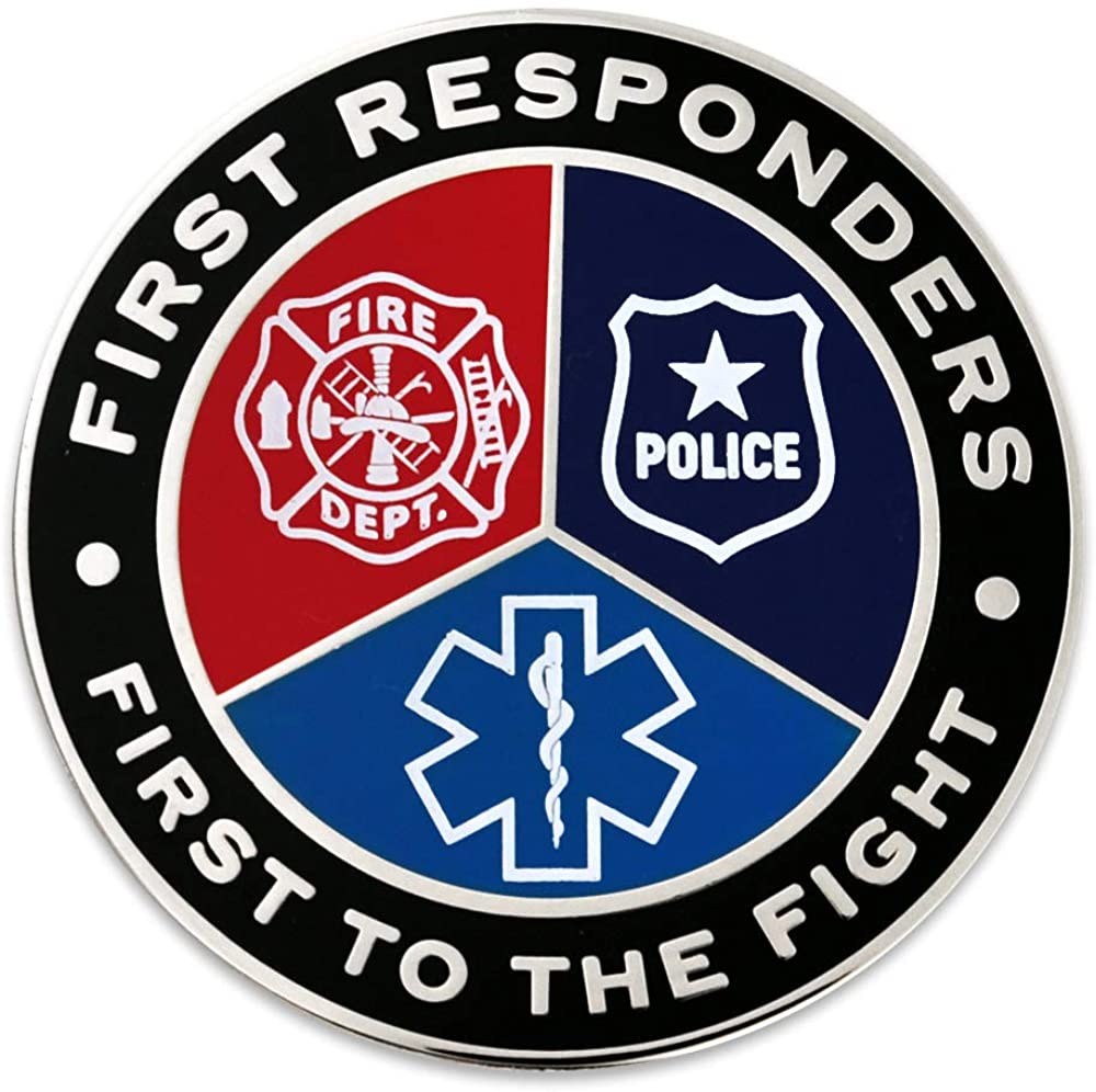 PinMart First Responders First to The Fight Frontliner Enamel Lapel Pin