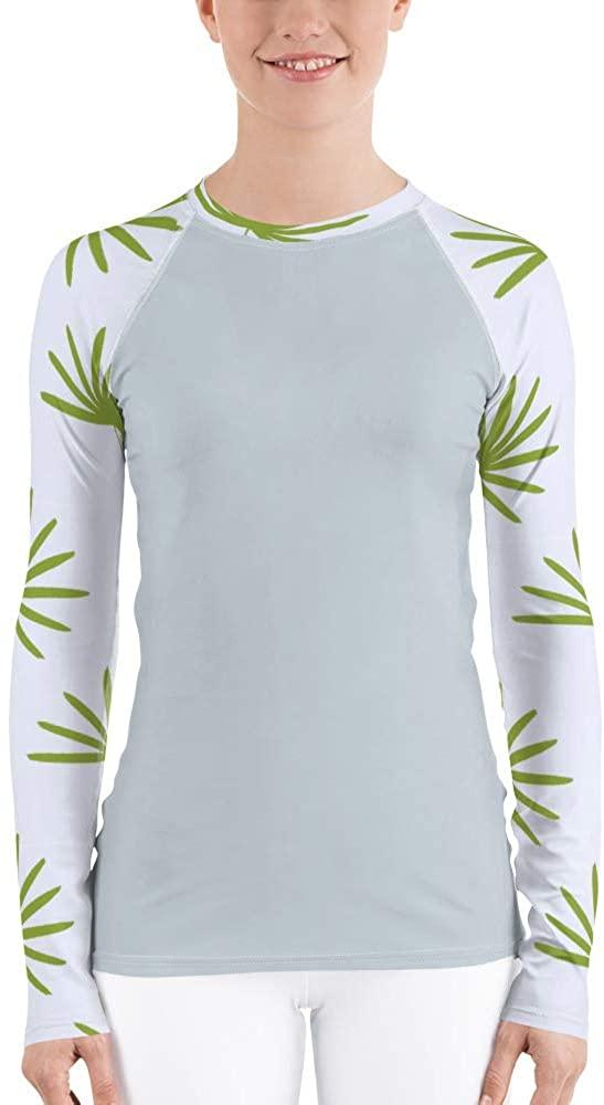 Sun Yearround Women's Soft Long Sleeve Clean Lefts Rashguard with UPF 38+