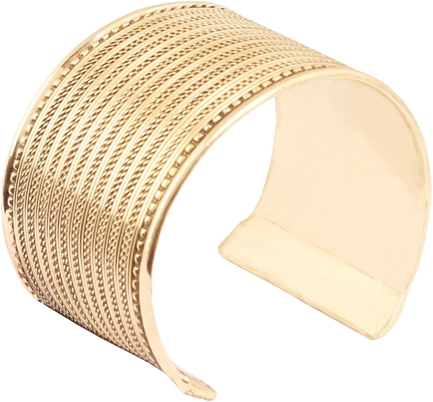 Touchstone Indian Bollywood Desire Brass Handcrafted Hammered Stylish Look Thick Wrist Enhancer Designer Jewelry Cuff Bracelet in Antique for Women