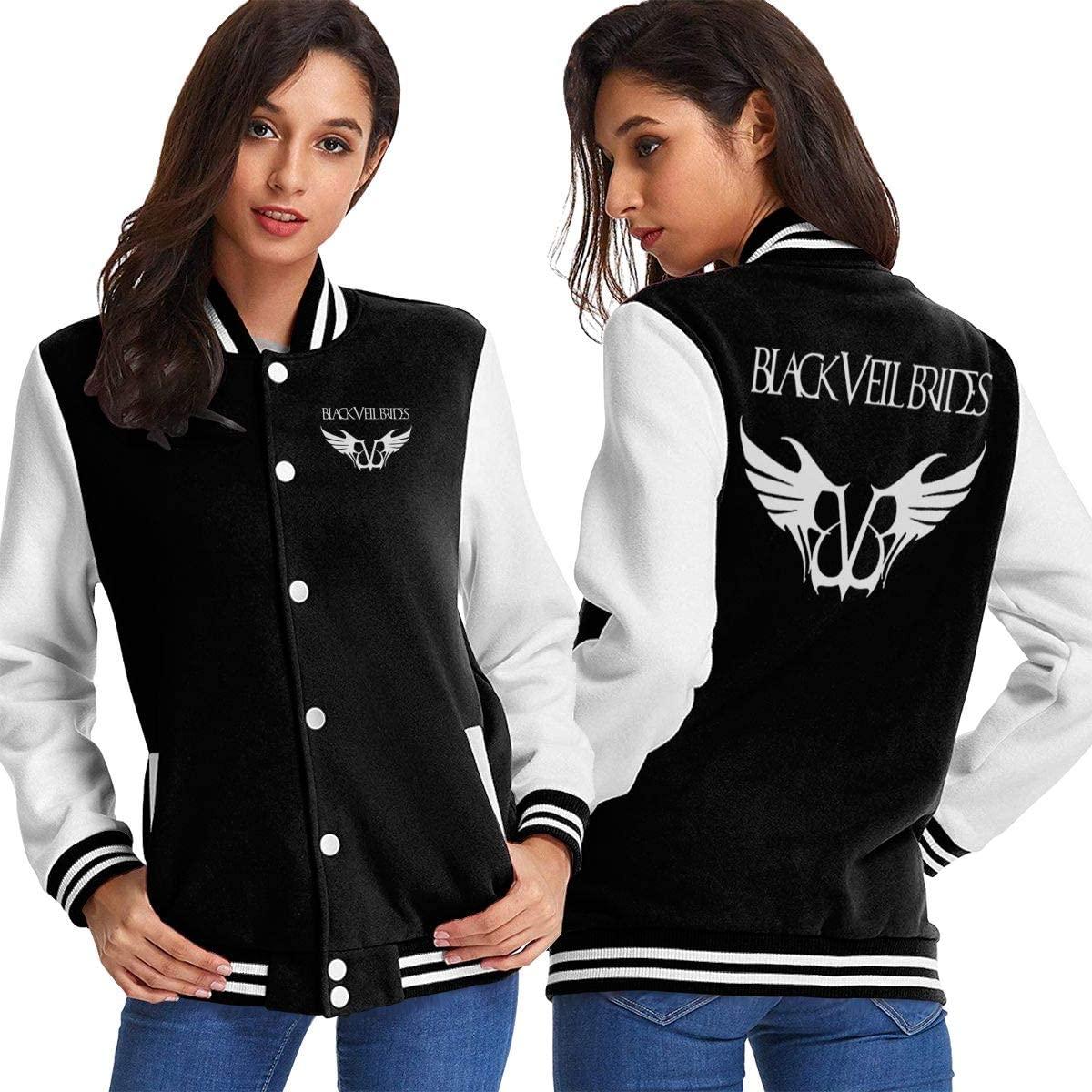 Huaichuanhua Black Veil Brides Womens Sport Baseball Uniform Jacket Coat Adult Coat