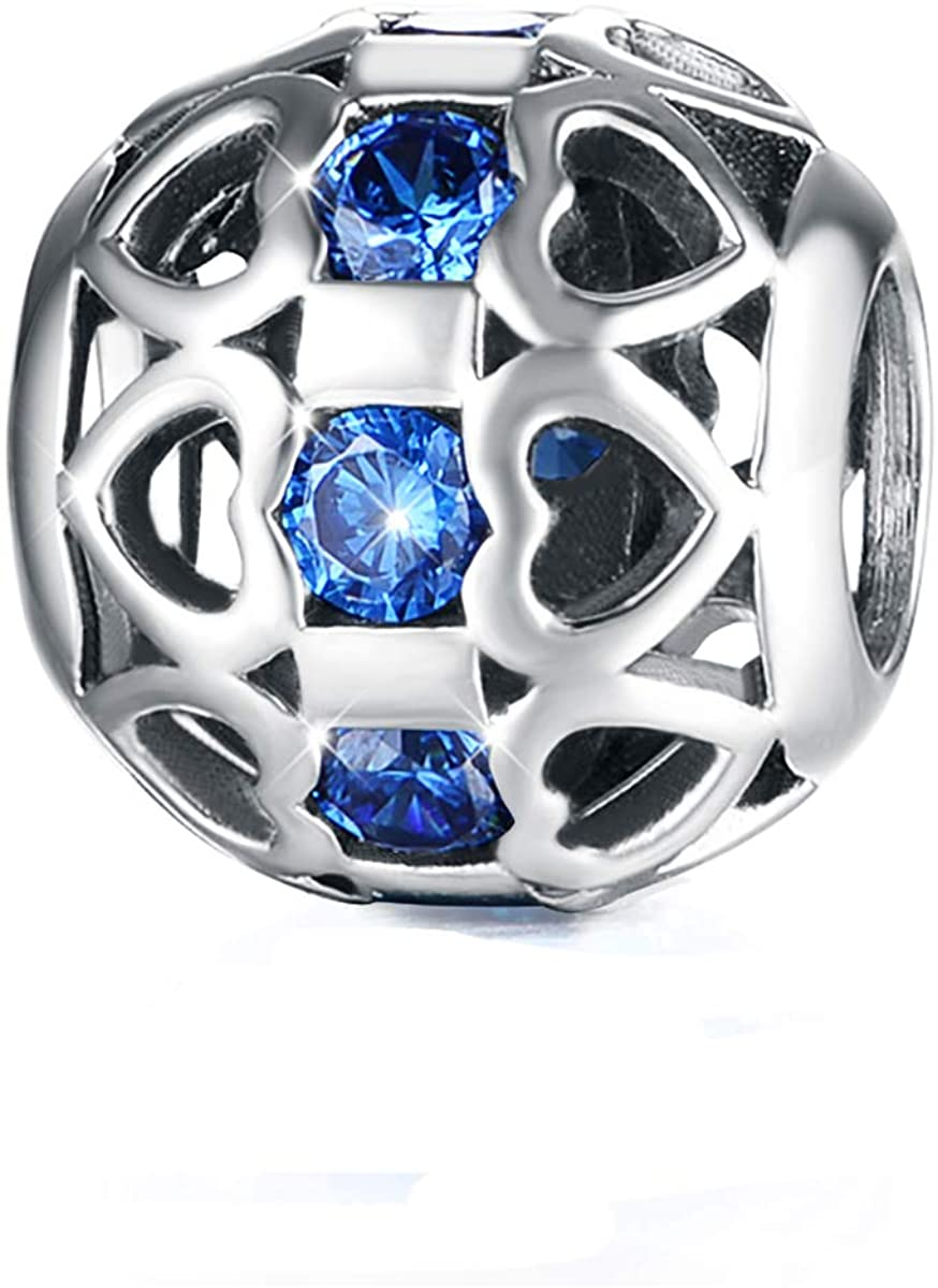 925 Sterling Silver Charms Bracelets Zircon Beads for Bracelet Snake Chain Bracelets and Necklace DIY Women Jewelry