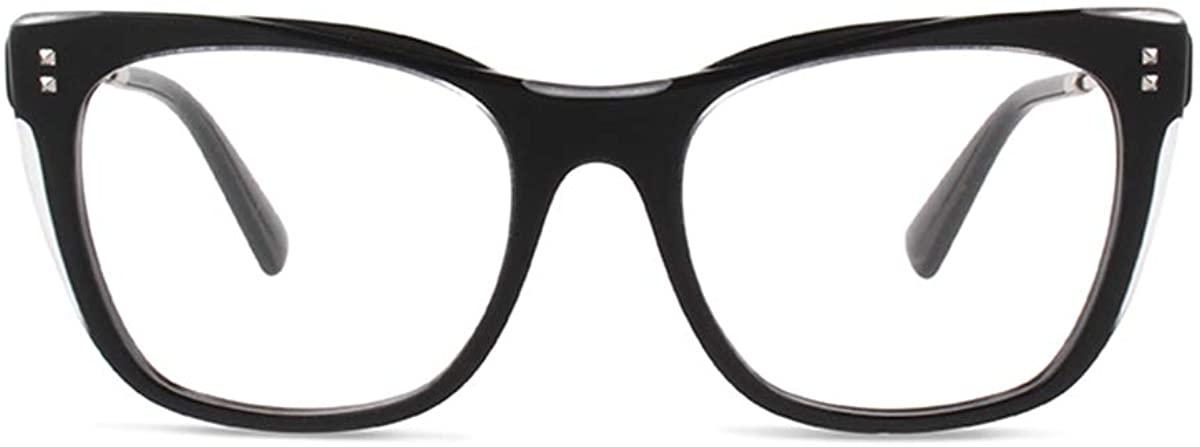 Valentino Eyeglasses VA3028 VA/3028 5099 Crystal/Black Optical Frame 52mm