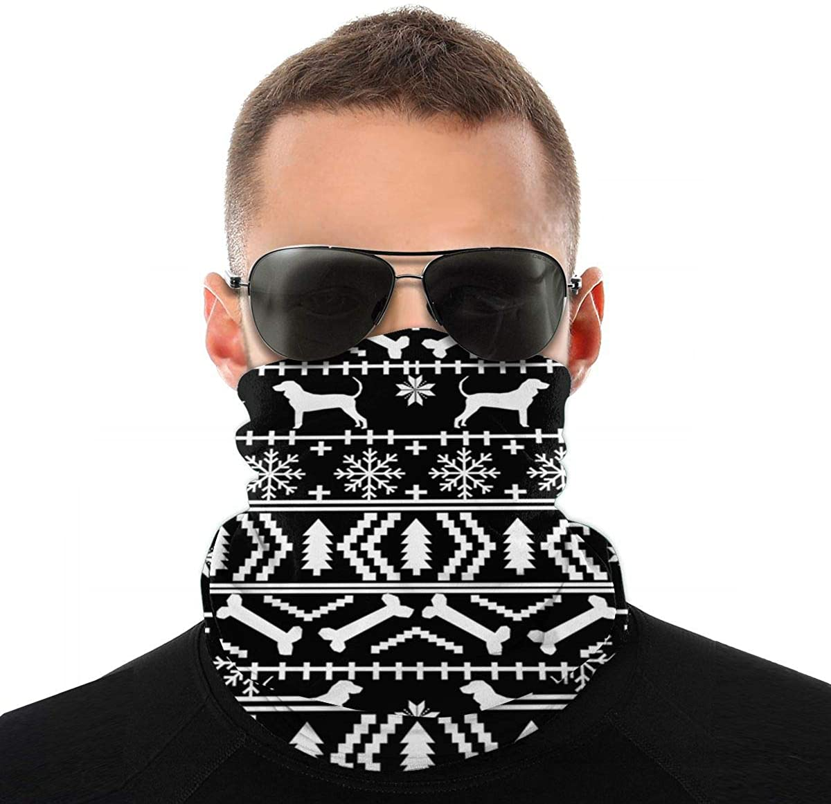 Coonhound Variety Head Scarf, Multifunctional Bandanas & Balaclava Anti Dust for Outdoors, Festivals, Sports