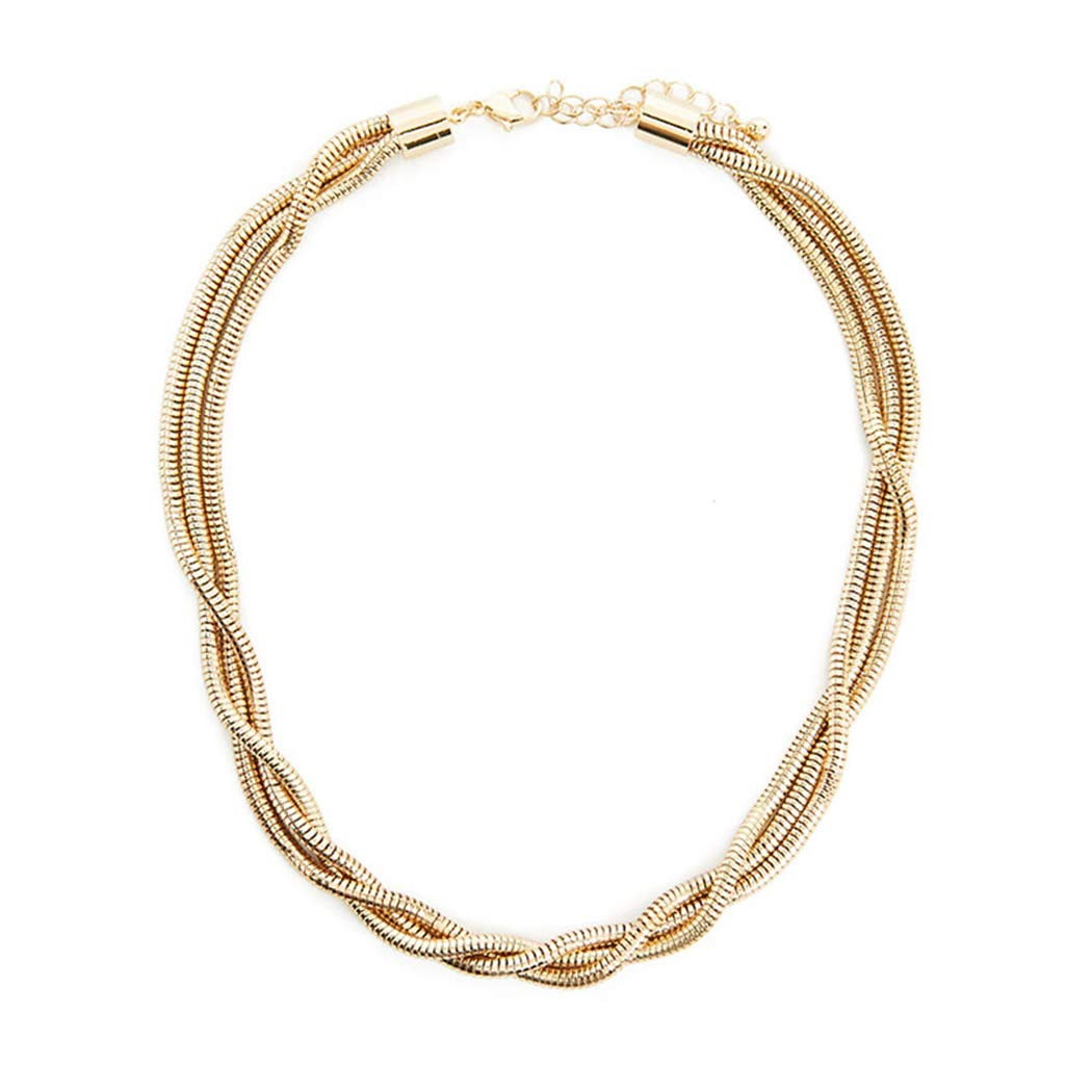 Brinote Layered Necklace Chain Fashion Snake Chain Necklaces Jewelry for Women and Girls (Gold)