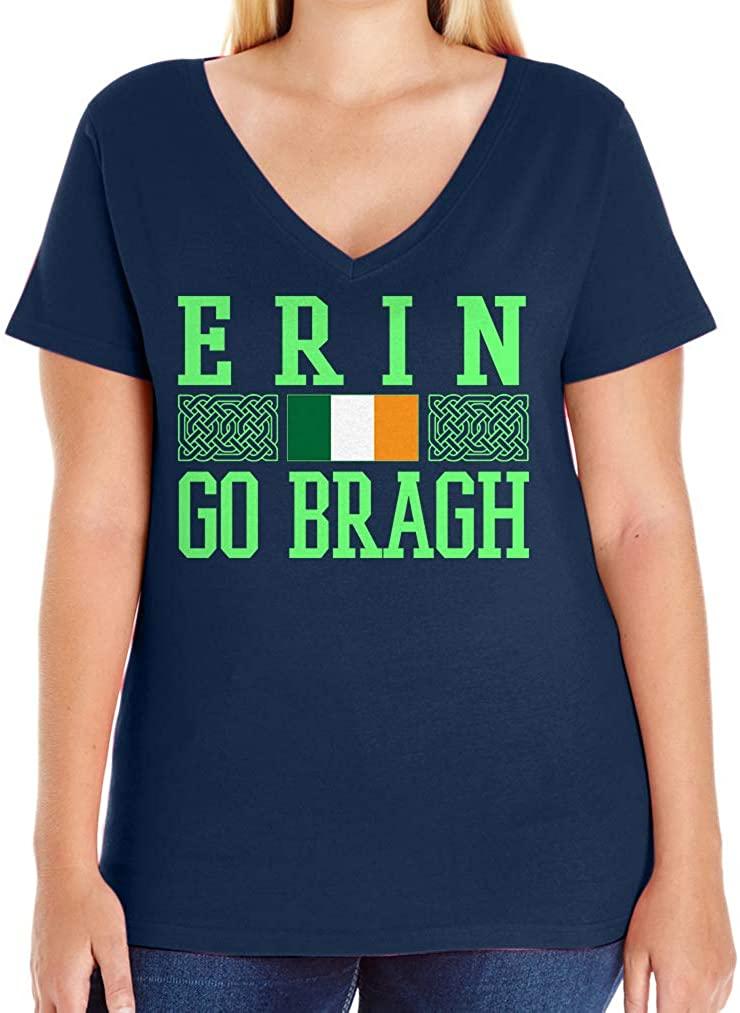 Tenacitee Women's Erin Go Braugh V-Neck T-Shirt