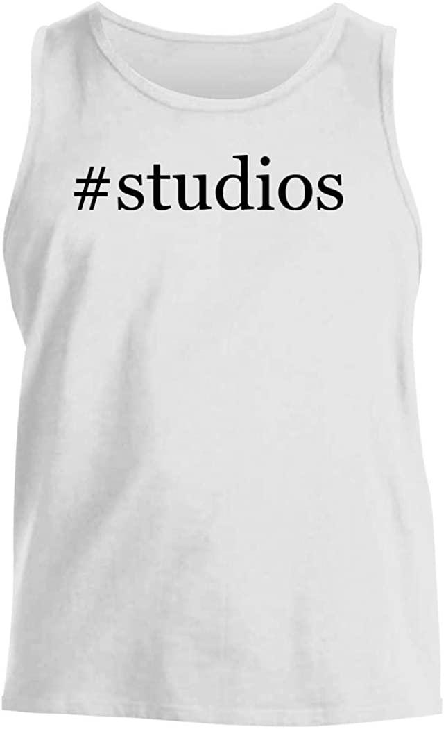 #studios - Men's Hashtag Comfortable Tank Top, White, X-Large