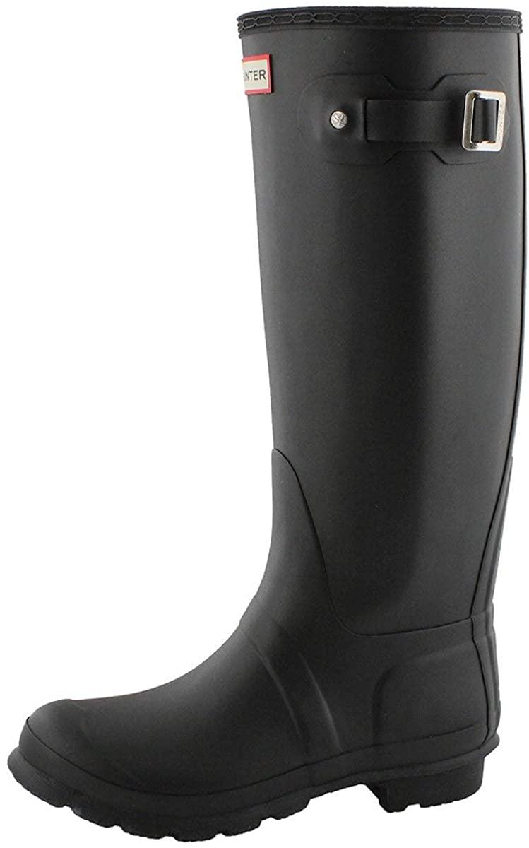 Hunter Original Tall Wellies Rainboots Black Women's Boots 9 M US