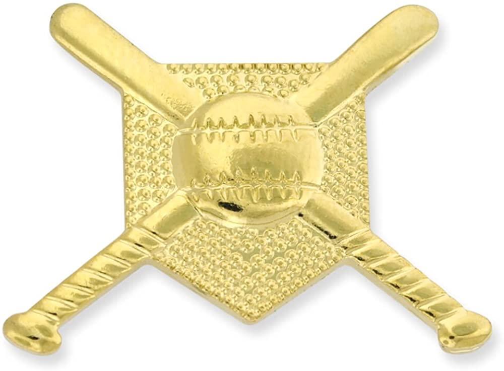 JDS Industries Gold Baseball Bats Ball and Base Sports Pin