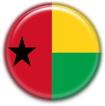 Guinea-Bissau : National Flag, Pinback Button Badge 1.50 Inch (38mm)