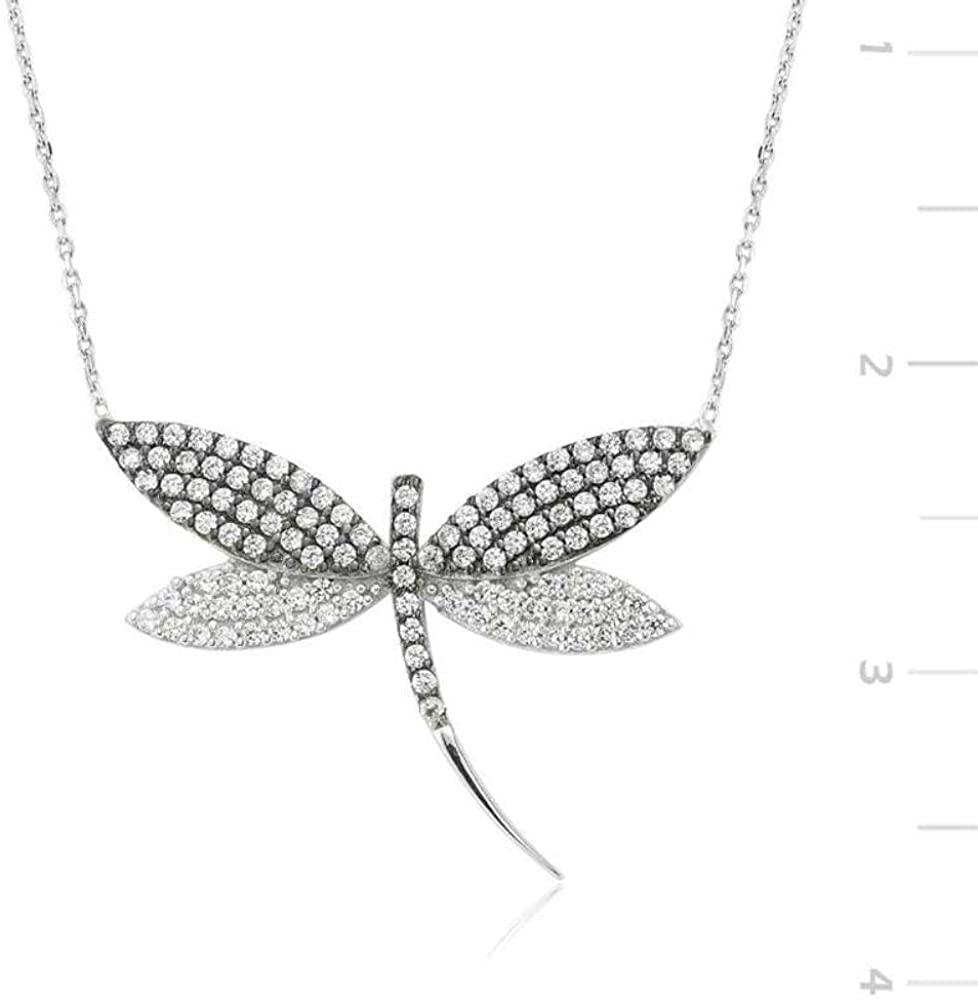 KOKANA Zircon Stone Silver Dragon Necklace Necklaces for Women and Girls