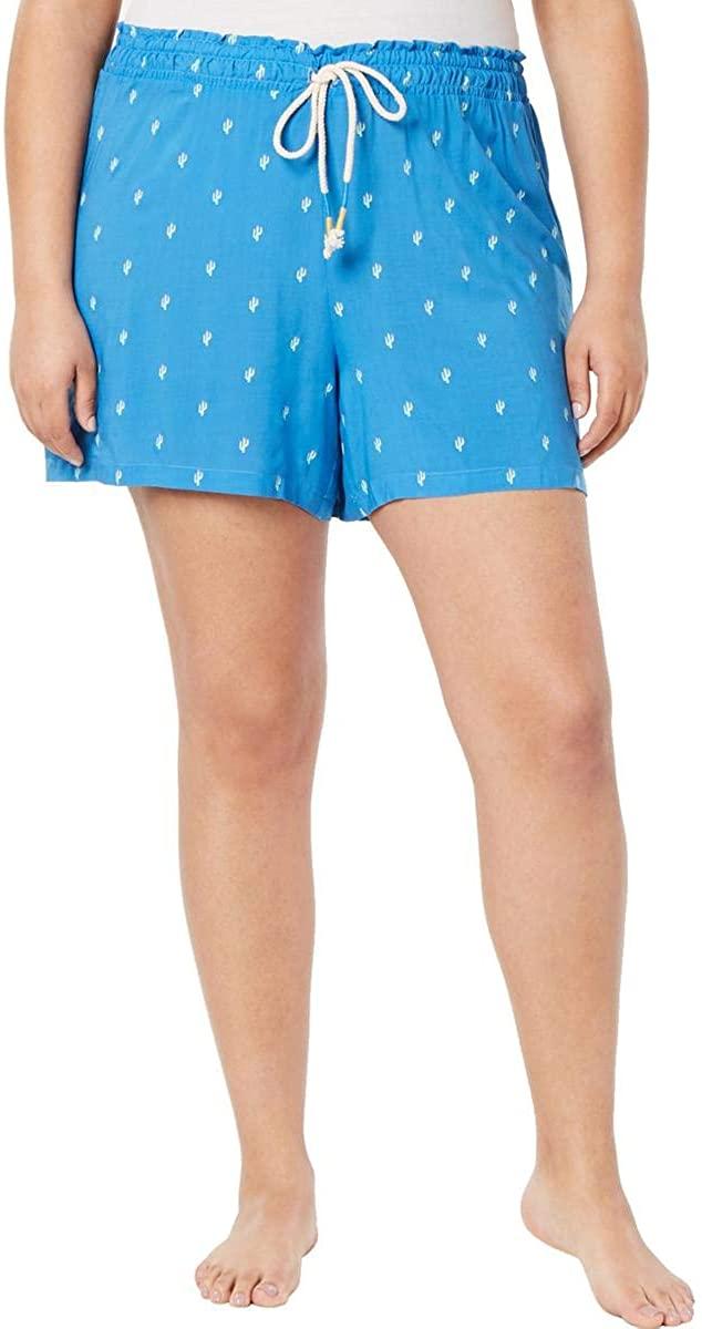 Jenni Womens Plus Cactus Comfy Sleepwear Sleep Short