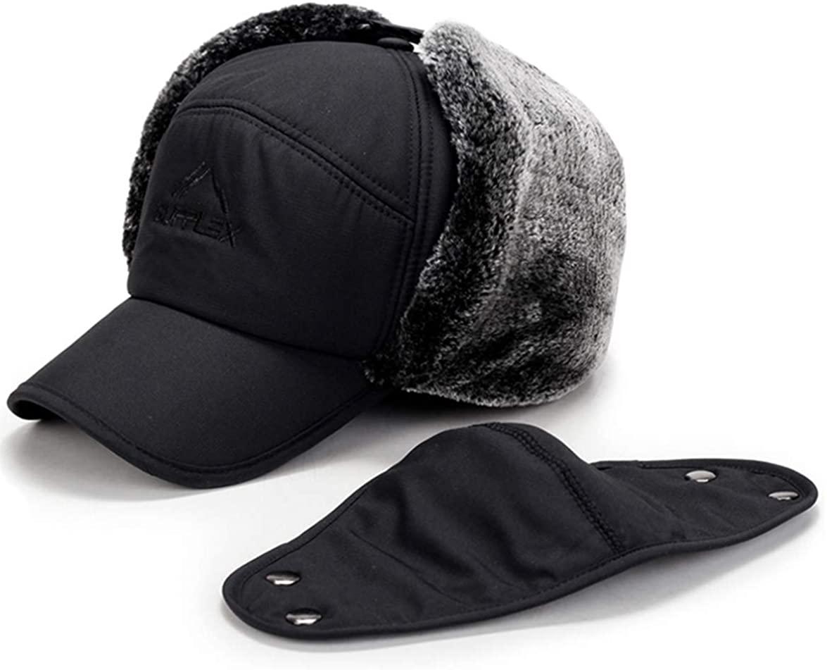 Earflap Adjustable Winter Aviator Hats Men Women Faux Fur Hunting Russian Cap