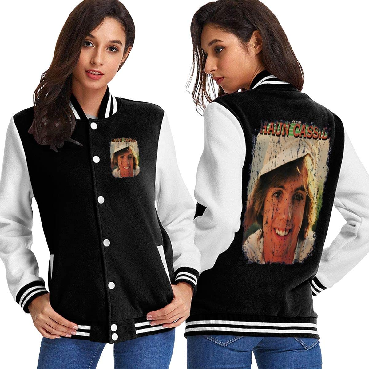 Shaun Cassidy 70s Celebrity Heartthrobe Vintage Worn Look Womens Sport Baseball Uniform Jacket Coat Adult Coat