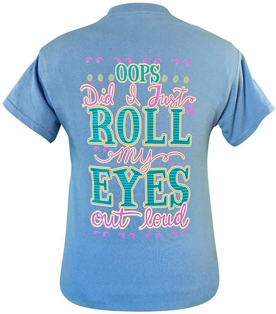 Girlie Girl Originals Roll My Eyes Carolina Blue Short Sleeve T-Shirt