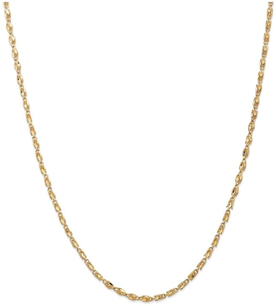 Finejewelers 14k Yellow Gold 2.5mm Marquise Chain Necklace