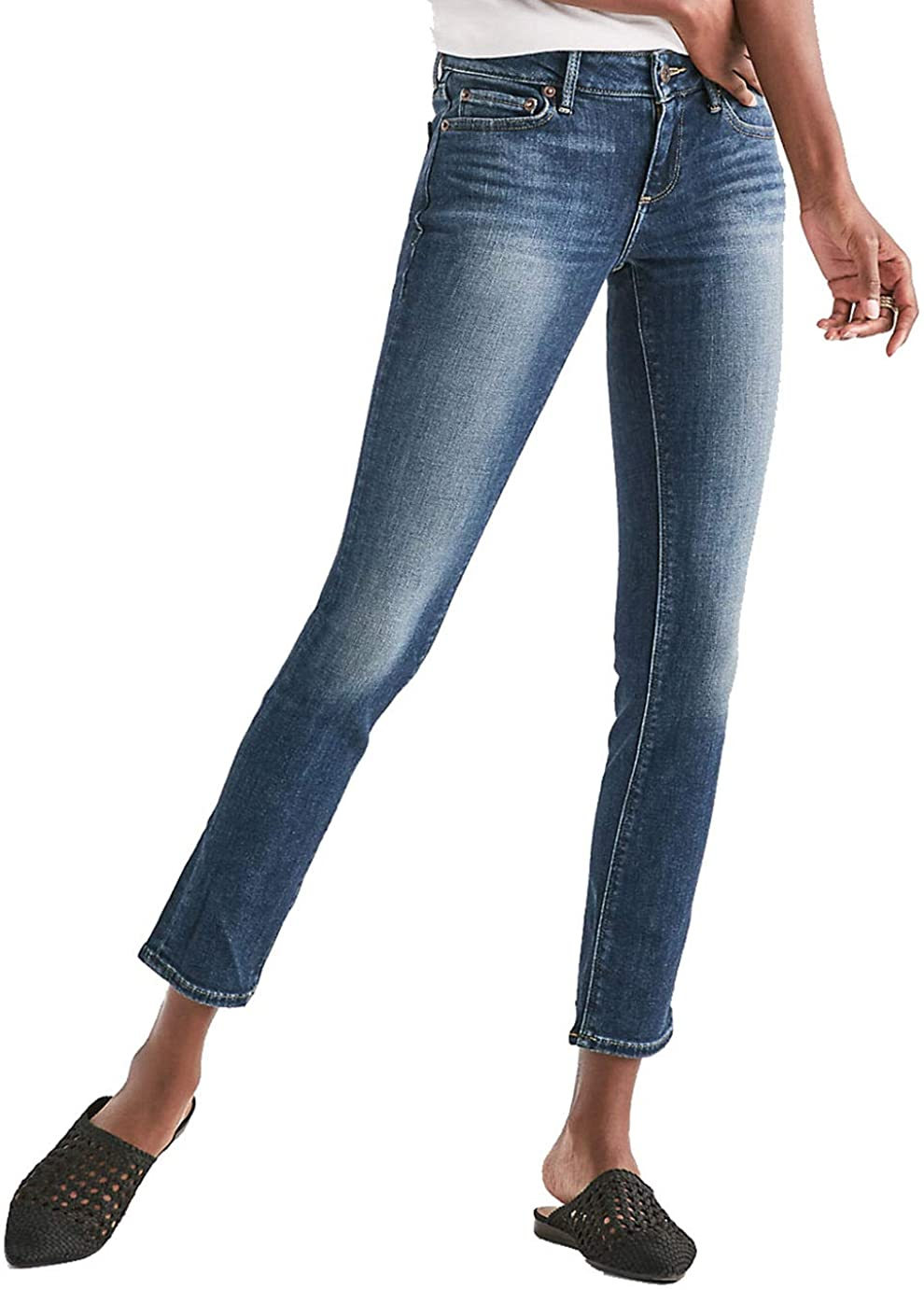 Lucky Brand Women's Lolita Mid Rise Curvy Fit Skinny Jeans Lake Bridgeport Blue Wash